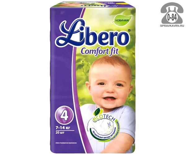 Подгузники для детей Либеро (Libero) EcoTech Comfort Fit Maxi Plus (18) 10-16, 18шт.