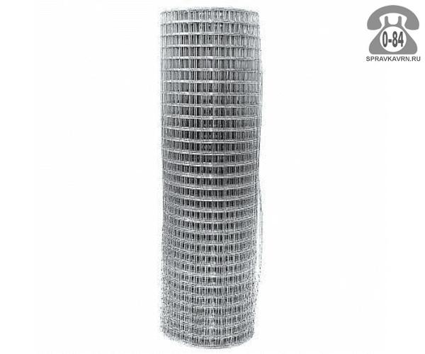 Строительная сетка диаметр 1.6мм  ячейка 50x50мм ширина 1.5м