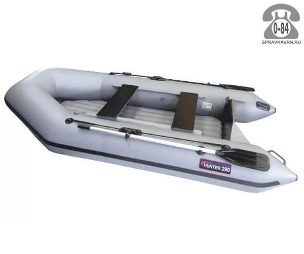 Лодка надувная Hunterboat Хантер 290 ЛН, серый 290101