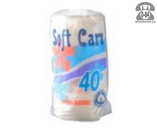 Ватные диски Софт Каре (Soft Care) хлопок 40 шт. Китай