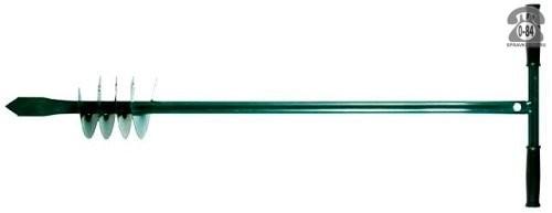 Бур почвенный 120 см шнековый 135 мм зелёный Россия