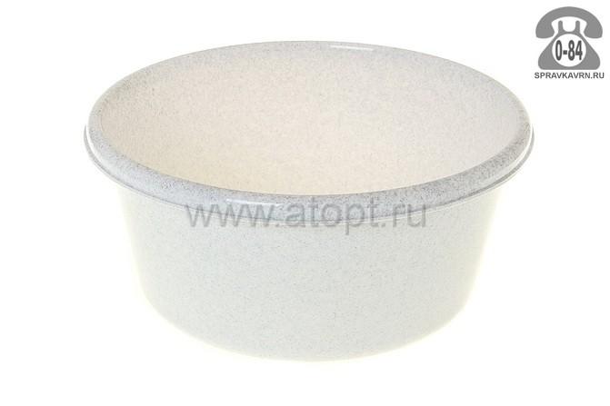 таз пластмассовый круглый 6 л (М 2511) мраморный (Идея)