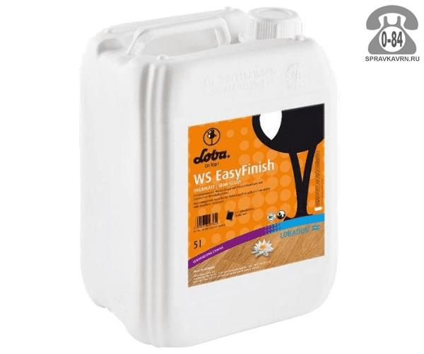 Лак Лобадур (Lobadur) WS EasyFinish 5 л паркетный канистра ПЭ