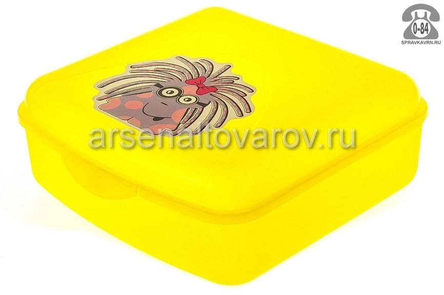 Контейнер пищевой Алеана Монстрик жёлтый 168018