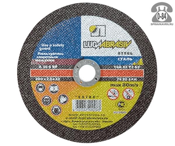 Круг отрезной Луга Абразив (Luga Abrasiv) 0.8мм диаметр 115мм для металл