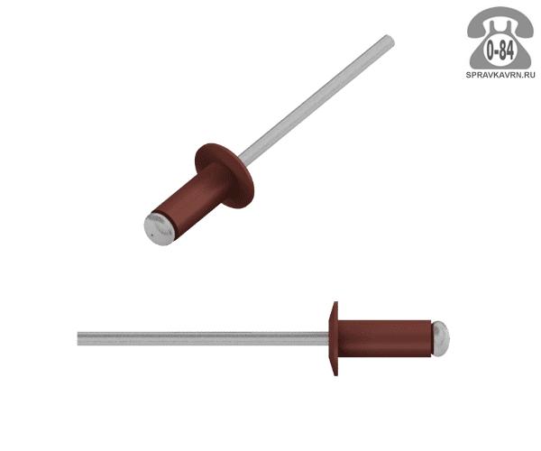 Заклёпка вытяжная алюминий + сталь 3.2 мм 10 мм