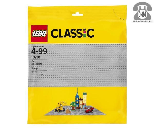 Конструктор Лего (Lego) Classic 10701 Строительная пластина цвет серый