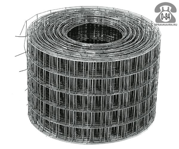 Строительная сетка диаметр 3мм  ячейка 50x50мм ширина 0.38м