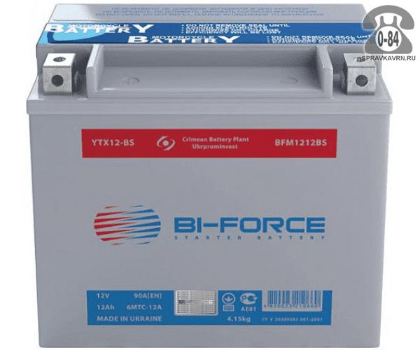 АКБ автомобильная Bi-Force 12 В 9 А*час