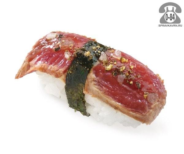 Суши Гюнику нигири классические с мраморной говядиной 25 г на дом