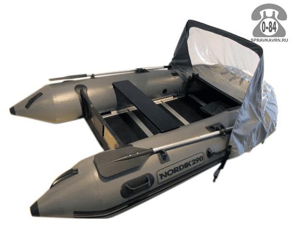 Лодка надувная Нордик (Nordik) 290, серая