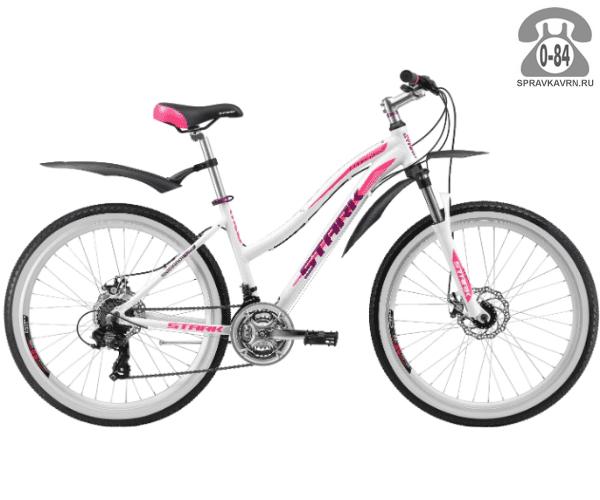 """Велосипед Старк (Stark) Luna 26.2 D (2017), рама 15"""" размер рамы 15"""" белый"""