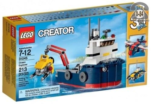 Конструктор Лего (Lego) Creator 31045 Океанское исследовательское судно, количество элементов: 213