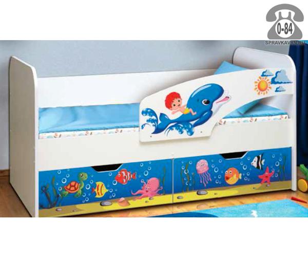 Кровать детская 1-ярусная (одноярусная) с двумя выдвижными ящиками 1900 мм 800 мм Россия