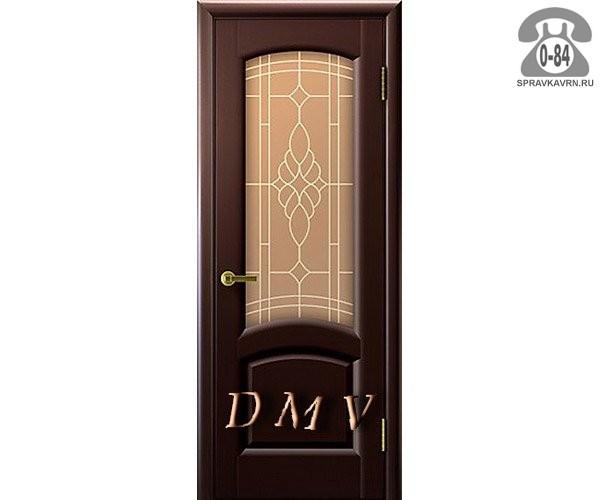 Дверь межкомнатная деревянная распашная шпон натуральный