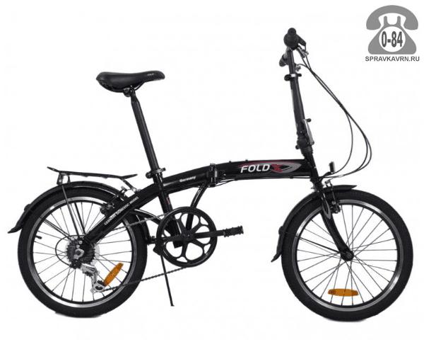 """Велосипед Фолдикс (FoldX) Twist (2017) размер рамы 16"""" черный"""