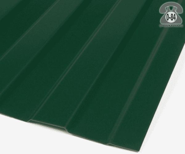 Профнастил С8 зелёный мох  1200x0.4 мм полиэстер