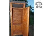 Деревянный туалет без выгребной ямы