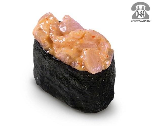 Суши Спайси хамачи гункан спайс с желтохвостом 30 г на дом