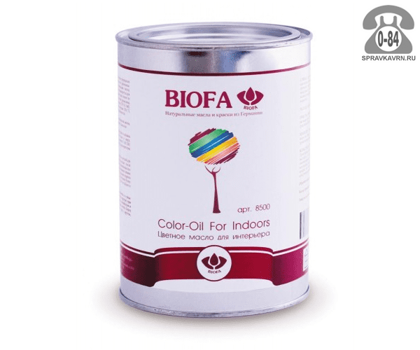 Мастика Биофа (Biofa) Color-Oil For Indoors 2.5л бренди
