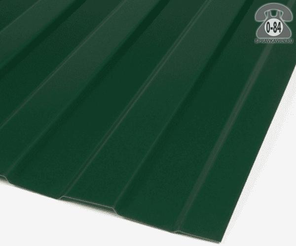 Профнастил С8 зелёный мох  1200x0.5 мм пластизолевое
