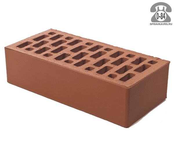 Кирпич облицовочный керамический Браер М150 одинарный красный гладкая г. Тула