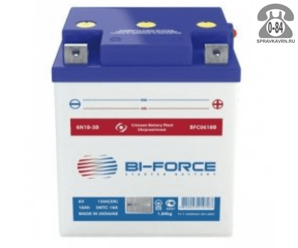 АКБ автомобильная Bi-Force BFC 6 В 18 А*час
