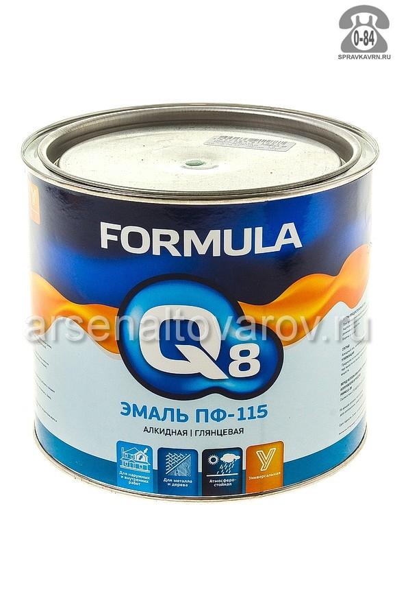 Краска Формула Q8 (Formula) ПФ-115 1.9 кг глянцевая ярко-зелёная