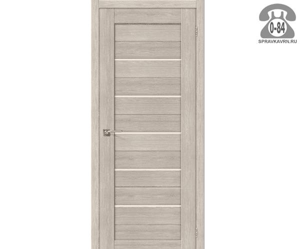 Межкомнатная деревянная дверь ЭльПорта, фабрика (el PORTA) Порта-21 глухая (без стекла) 90см, цвет: капучино вералинга (cappuccino veralinga)