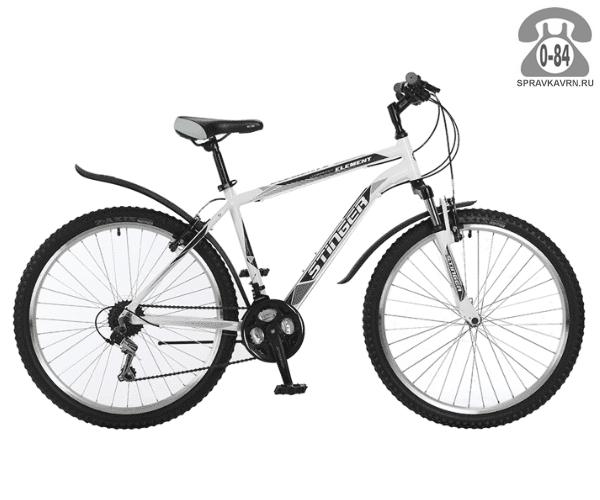 "Велосипед Стингер (Stinger) Element 26 (2017), рама 18.5"", белый размер рамы 18.5"" белый"