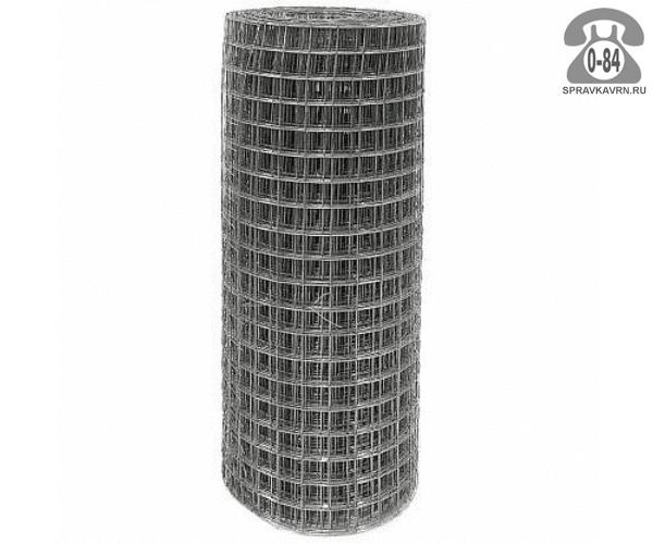Сетка строительная диаметр 1.6мм ширина 0.2м ячейка 50х50мм