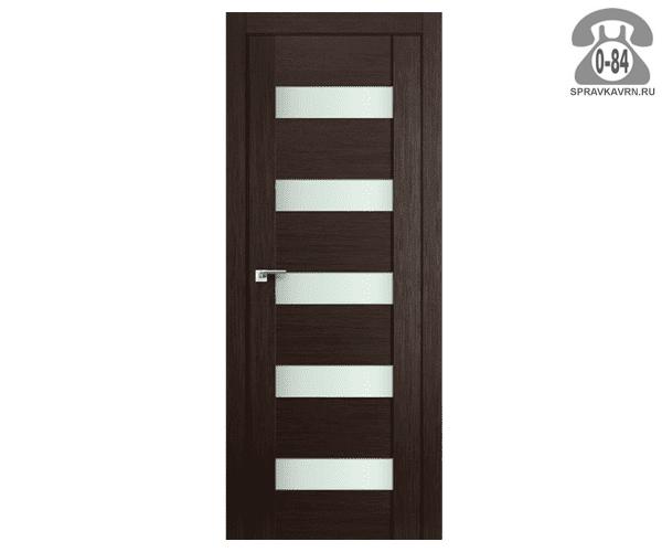 Межкомнатная деревянная дверь ЭльПорта, фабрика (el PORTA) Порта-23 Magic Fog остеклённая 80 см венге (wenge)
