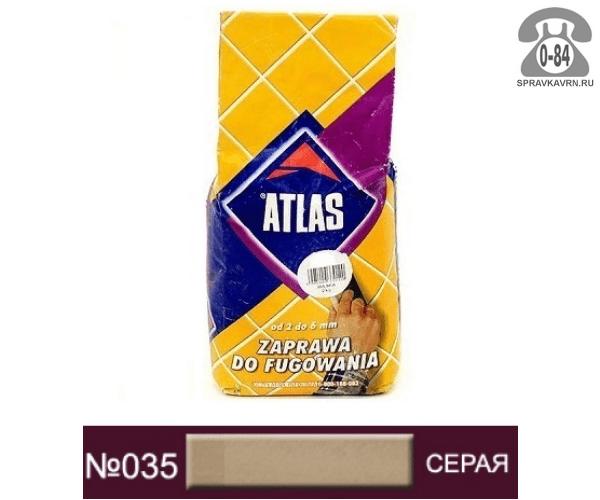 Затирка для швов плитки Атлас (Atlas) 2 кг серый