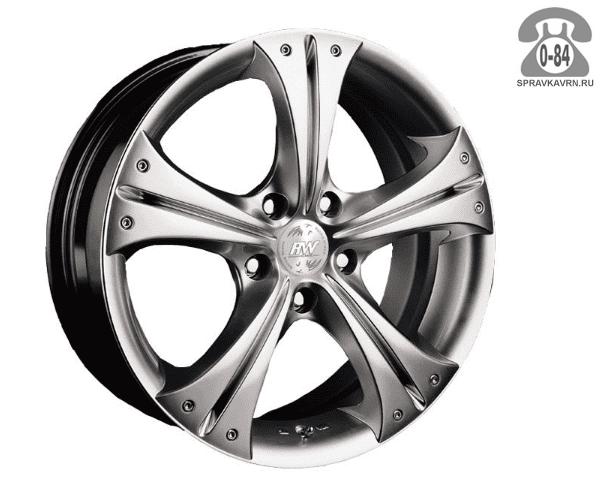 """Диск РВ (Racing Wheels) H-253 15"""" ширина 7"""" крепежных отверстий 5 диаметр расположения отверстий 100 мм вылет колеса (ET) 38 мм диаметр центрального отверстия 73.1 мм"""