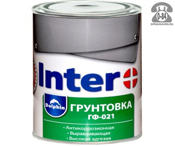 Грунтовка Интер (Inter) ГФ-021 серая 1.9 кг