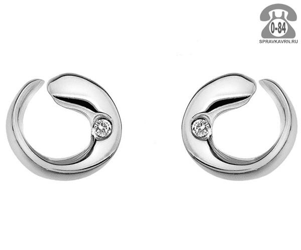 Серьги серебро бриллиант