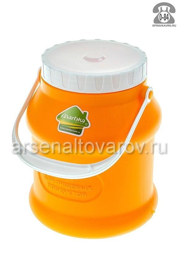 бидон пластмассовый 3 л для пищевых Просперо (С925ОРЖ) оранжевый (Мартика)