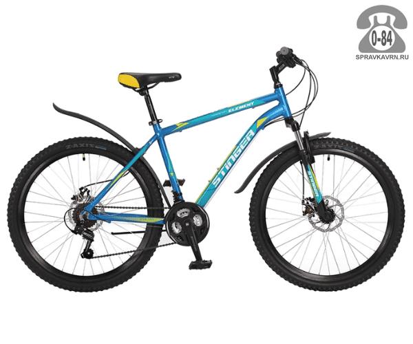 """Велосипед Стингер (Stinger) Element D 26 (2017), рама 18.5"""", синий размер рамы 18.5"""" синий"""