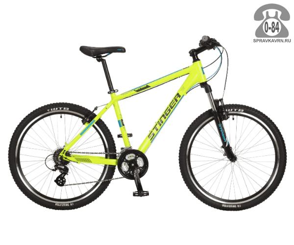 "Велосипед Стингер (Stinger) Reload 26"" (2017), рама 16.5"", зеленый размер рамы 16.5"" зеленый"