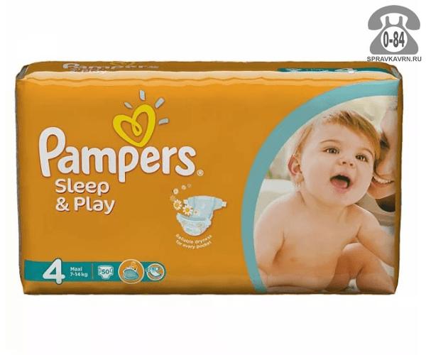 Подгузники для детей Памперс (Pampers) Sleep & Play 7-14 кг (50) 7-14, 50шт.