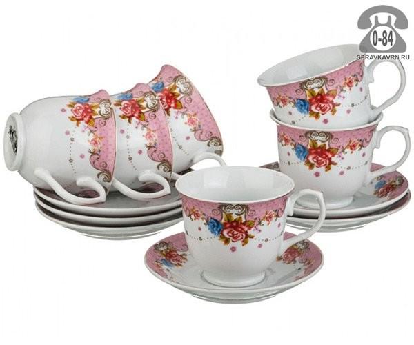 Чайный сервиз керамика 6 12
