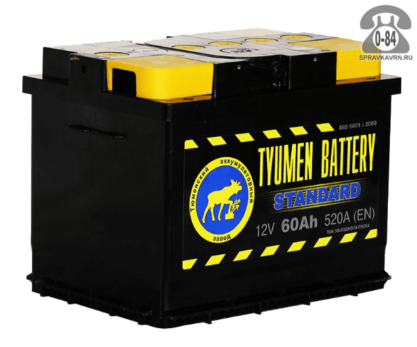 Аккумулятор для транспортного средства Тюмень Бэттери (Tyumen Battery) Standart