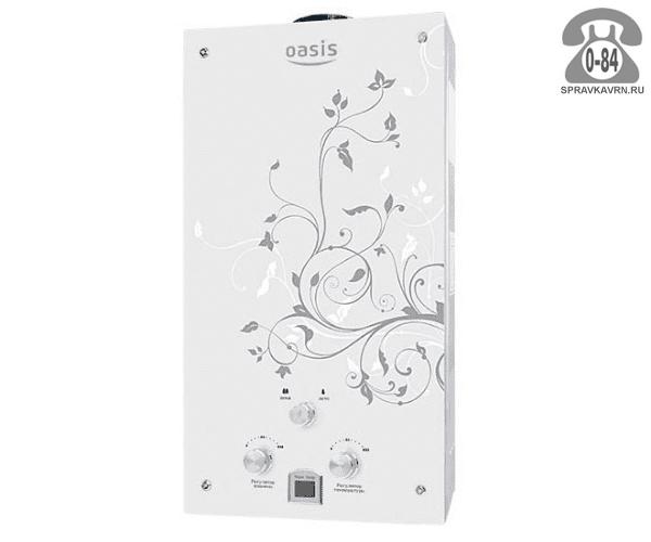 Газовая колонка Оазис (Oasis) Glass ZG20 20 кВт 10л/мин открытая камера