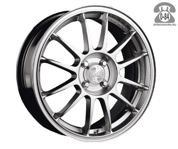 """Диск РВ (Racing Wheels) H-134 13"""" ширина 5.5"""" крепежных отверстий 4 диаметр расположения отверстий 98 мм вылет колеса (ET) 35 мм диаметр центрального отверстия 58.6 мм"""