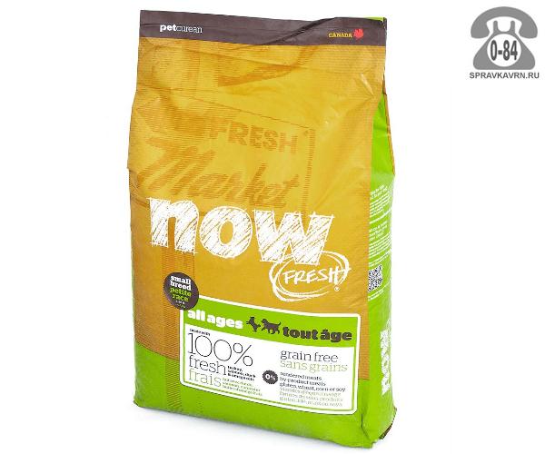 Корм для малых пород собак всех возрастов Now! Fresh Small Breed Recipe Grai беззерновой с индейкой, уткой и овощами 10119