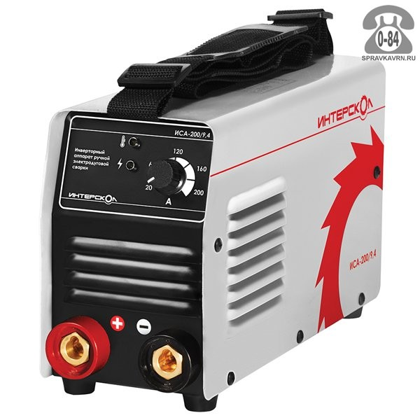 Сварочный аппарат для ручной дуговой сварки Интерскол инверторного типа (инвертор)