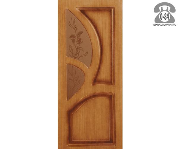 Дверь межкомнатная деревянная Левша Грация цвет: орех остеклённая 60см левая