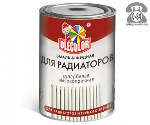 Краска Олеколор (Olecolor) Для радиаторов 0.9 кг глянцевая белая