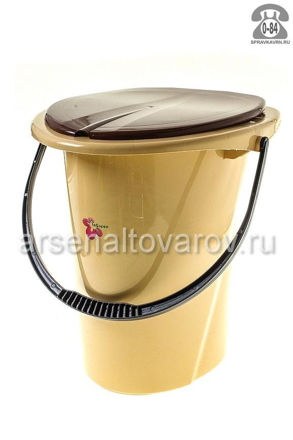 Ведро-туалет пластмассовое 17 л Россия