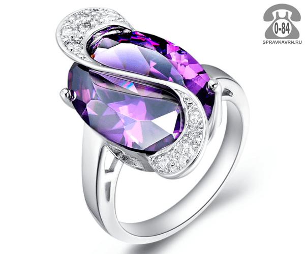 Кольцо серебро драгоценный камень